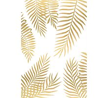 Gold palm leaves Photographic Print
