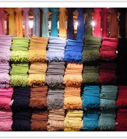 A rainbow of scarfs.... Sticker