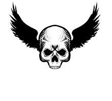 Skull Blackwings Photographic Print