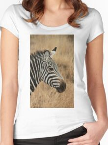 Zebra Women's Fitted Scoop T-Shirt