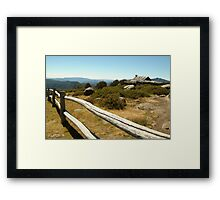 Joe Mortelliti Gallery - Craig's Hut, Mt Stirling, alpine Victoria, Australia. Framed Print