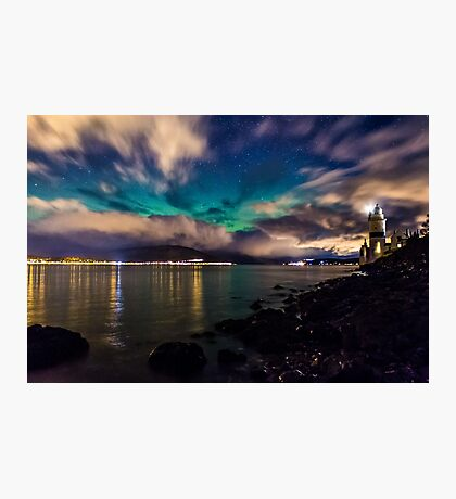 Northern Lights over Cloch Lighthouse Photographic Print