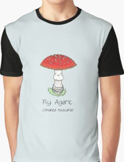 Fly Agaric (with smiley face) Graphic T-Shirt