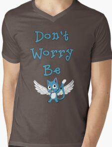 Don't worry be... Mens V-Neck T-Shirt