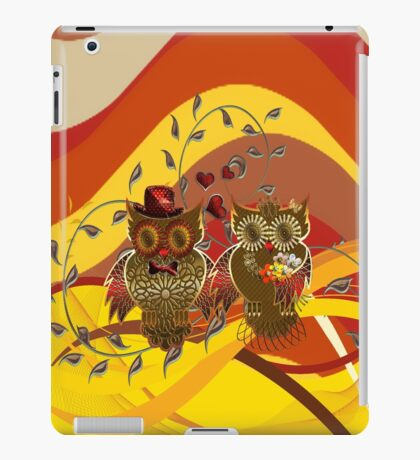 Owls - just married iPad Case/Skin