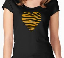 0307 Harvest Gold Tiger Women's Fitted Scoop T-Shirt