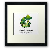 Parrot Waxcap (without smiley face) Framed Print