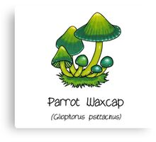 Parrot Waxcap (without smiley face) Canvas Print