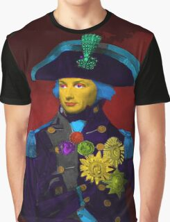 Horatio Nelson Pop Art Graphic T-Shirt