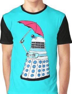 Pink Umbrella Graphic T-Shirt