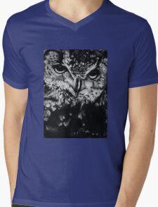 Owl drawing photorealistic Mens V-Neck T-Shirt