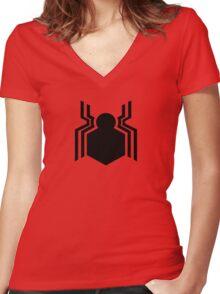 civil war - spider-man  Women's Fitted V-Neck T-Shirt