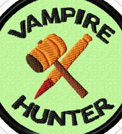 Vampire Hunter Geek Merit Badge Sticker