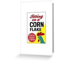 Sitting On A Corn Flake Greeting Card