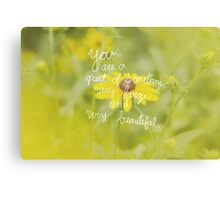 Very Large and Very Beautiful - Floral Canvas Print