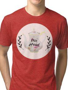 Tea Pot Head Tri-blend T-Shirt