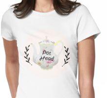 Tea Pot Head Womens Fitted T-Shirt