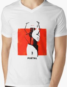 Portal Gun Mens V-Neck T-Shirt