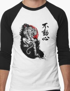 Japanese Tiger with Fudoshin Kanji Men's Baseball ¾ T-Shirt