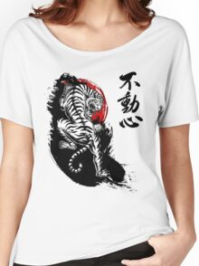 Japanese Tiger with Fudoshin Kanji Women's Relaxed Fit T-Shirt