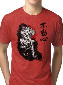 Japanese Tiger with Fudoshin Kanji Tri-blend T-Shirt