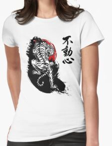 Japanese Tiger with Fudoshin Kanji Womens Fitted T-Shirt