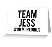 Team Jess - Gilmore Girls Greeting Card