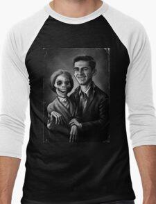 Bates Family Portrait Men's Baseball ¾ T-Shirt
