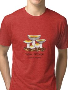 Yellow brittlegill (without smiley face) Tri-blend T-Shirt