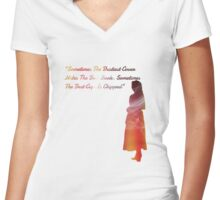 The chipped cup Women's Fitted V-Neck T-Shirt