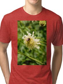Flower and a Bee Tri-blend T-Shirt