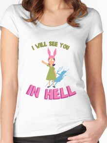Louise Belcher Will See You in Hell Women's Fitted Scoop T-Shirt