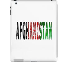 Afghanistan Word With Flag Texture iPad Case/Skin