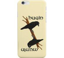 Hugin and Munin iPhone Case/Skin
