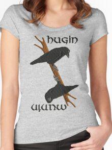 Hugin and Munin Women's Fitted Scoop T-Shirt