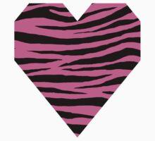0314 Hot Pink Tiger Kids Tee