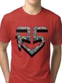R5 TRIBAL PRINT LOGO Tri-blend T-Shirt