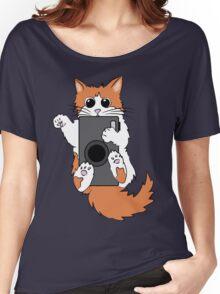 Mischievous Camera Cat Women's Relaxed Fit T-Shirt