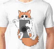 Mischievous Camera Cat Unisex T-Shirt