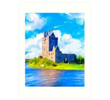 Stirring Irish Castle On The Shores of Galway Bay - Dunguaire Art Print
