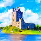 Stirring Irish Castle On The Shores of Galway Bay - Dunguaire by Mark Tisdale