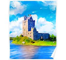 Stirring Irish Castle On The Shores of Galway Bay - Dunguaire Poster