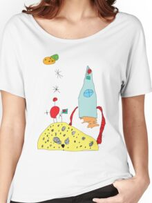 RTD0015C - Space Tomatoes Women's Relaxed Fit T-Shirt
