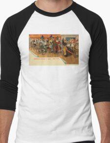 Vintage New York Restaurant party, Tenderloin Scene at night Men's Baseball ¾ T-Shirt