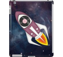 Violet Musical rocket in outer space iPad Case/Skin