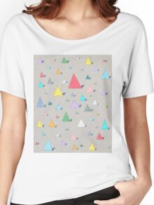 Colourful Geometric Pattern Women's Relaxed Fit T-Shirt