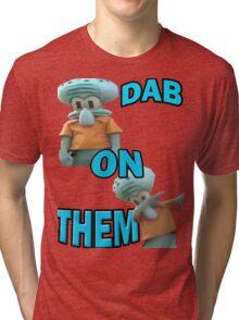 Squidward DAB Tri-blend T-Shirt