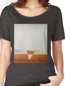 Minimalist collage desert landscape with inverted triangle Women's Relaxed Fit T-Shirt