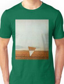 Minimalist collage desert landscape with inverted triangle Unisex T-Shirt
