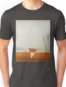 Minimalist collage desert landscape with inverted triangle Unisex T-Shirt